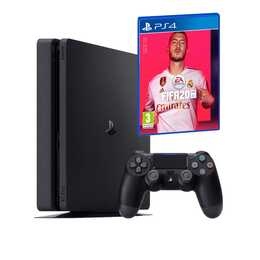 SONY Playstation 4 Slim Jet Black + FIFA 20 (DFI) 1 TB