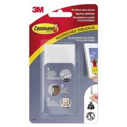 3M Tabs Command 18 mm x 93 mm, Weiss
