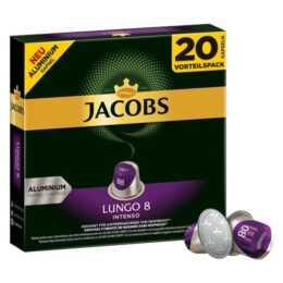 JACOBS Capsules de Café Espresso lungo Intenso (20 Pièce)