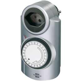 BRENNENSTUHL Zeitschaltuhr MT 20 24 h (T13 / T12, Silber)