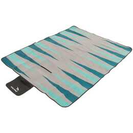 EASY CAMP Couverture pique-nique Backgammon (Gris, Vert, 135 cm x 170 cm)