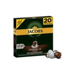 JACOBS Capsules de Café Nespresso Expresso Intenso (20 Pièce)