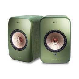 KEF AUDIO LSX (70 W, Regallautsprecher, Olivgrün)