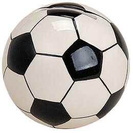SOMBO Sparbüchse Fussball (Weiss, Schwarz)