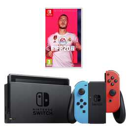 NINTENDO Switch New Neon + FIFA 20 32 GB (DE, FR, IT)