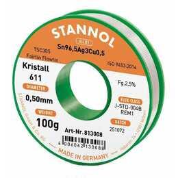 STANNOL Stagno per saldare cristallo 611 TSC (0.5 mm, 100 g)