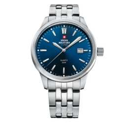 SWISS MILITARY 8063 Blue (Analoguhr, 41 mm)