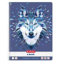 HERLITZ Taccuini Wild Animals Wol (A4, Quadrettato)