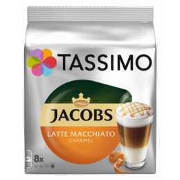 TASSIMO Kaffeekapseln Latte Macchiato Jacobs Caramel (8 Stück)