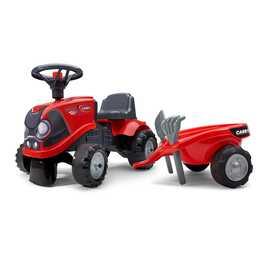 FALK Tret-Traktor mit Anhänger (Rot, Schwarz)