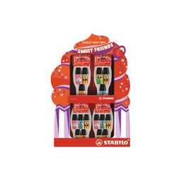 STABILO Textmarker Mini Sweet Friends (Orange, Grün, Blau, Pink, Gelb, 6 Stück)