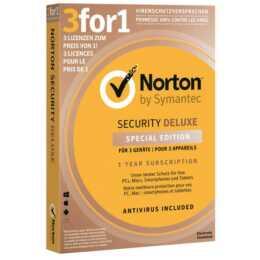 NORTON di Symantec Deluxe 3 per 1