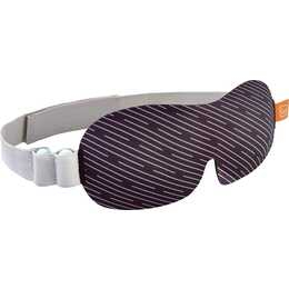 GO TRAVEL Shaped Eye Schlafmaske (Schwarz, Weiss)