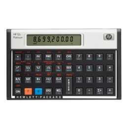 HP 12c Platinum Calculatrice financière (Fonctionement sur batterie standard)