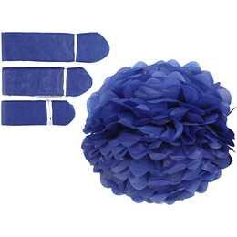 CREATIV COMPANY Pompons Blau