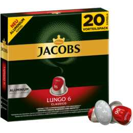 JACOBS Capsules de Café Espresso lungo Classico (20 Pièce)