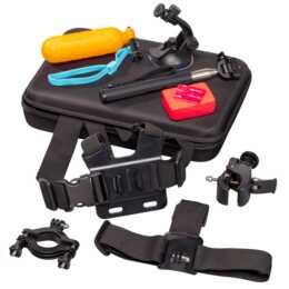 INTERTRONIC Action Cam Kit 30 in 1 (Schwarz, Blau, Orange, Rot)