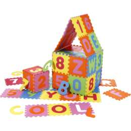KNORRTOYS Copertine gioco ABC + 123 (Multicolore)