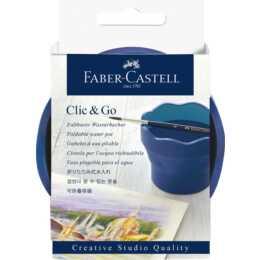 FABER-CASTELL Wasserbecher Clic & Go (Blau)