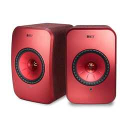 KEF AUDIO LSX (70 W, Regallautsprecher, Rot)