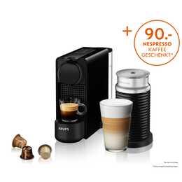 KRUPS Essenza Plus & Aeroccino XN5118 (Nespresso, Nero)