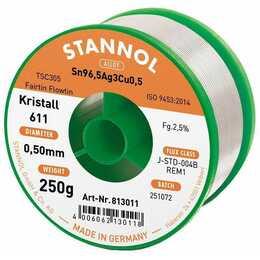 STANNOL Stagno per saldare cristallo 611 TSC (0.5 mm, 250 g)