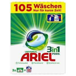 ARIEL Maschinenwaschmittel 3 in 1 (4 kg, Tabs)