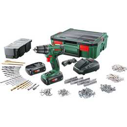 BOSCH Trapano a batteria PSR 1800 + System Box (27 W, 1.5 Ah, 18 V)