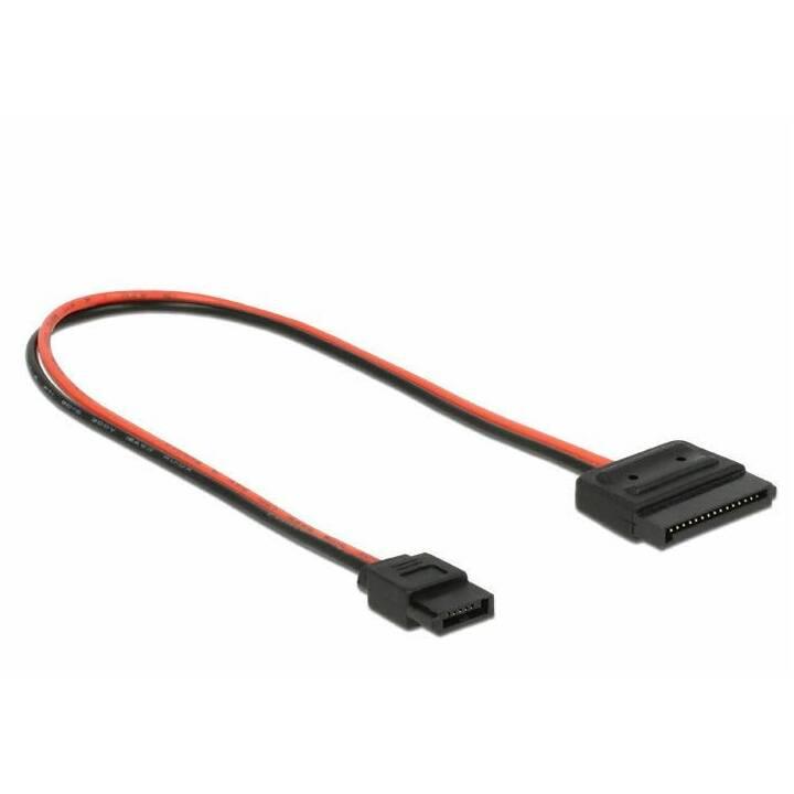 DELOCK Stromkabel Slim-SATA - SATA 24 cm