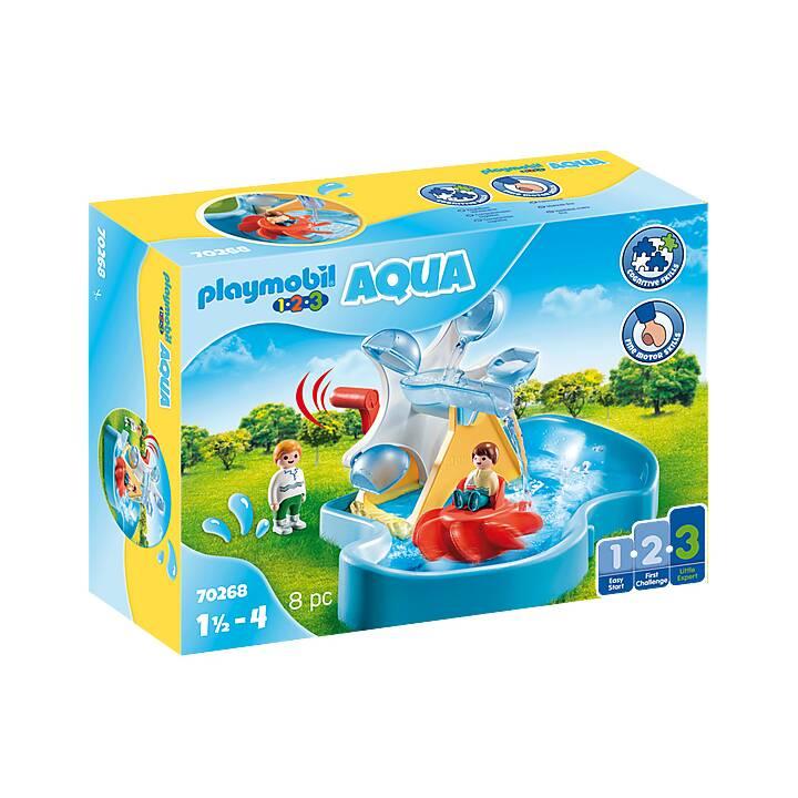 PLAYMOBIL 1.2.3 Ruota acquatica con giostrina (70268)