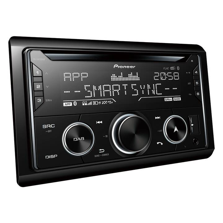 PIONEER CAR FH-S820DAB (Noir, Bluetooth)