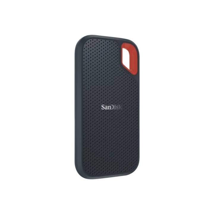 SANDISK Extreme Portable SSD (USB 3.1 Typ-C, 500 GB, Orange, Grau)