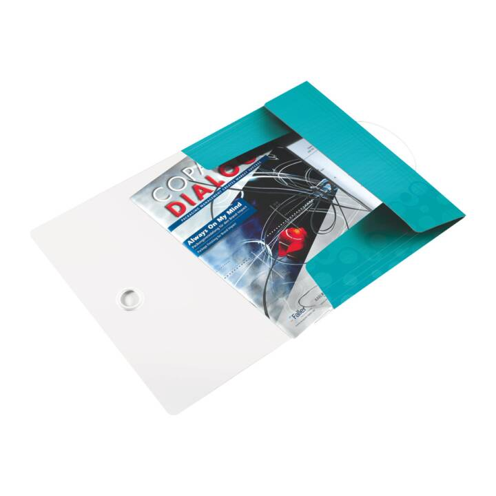 LEITZ WOW Polipropilene (PP) Blu, metallico Copertina per lime