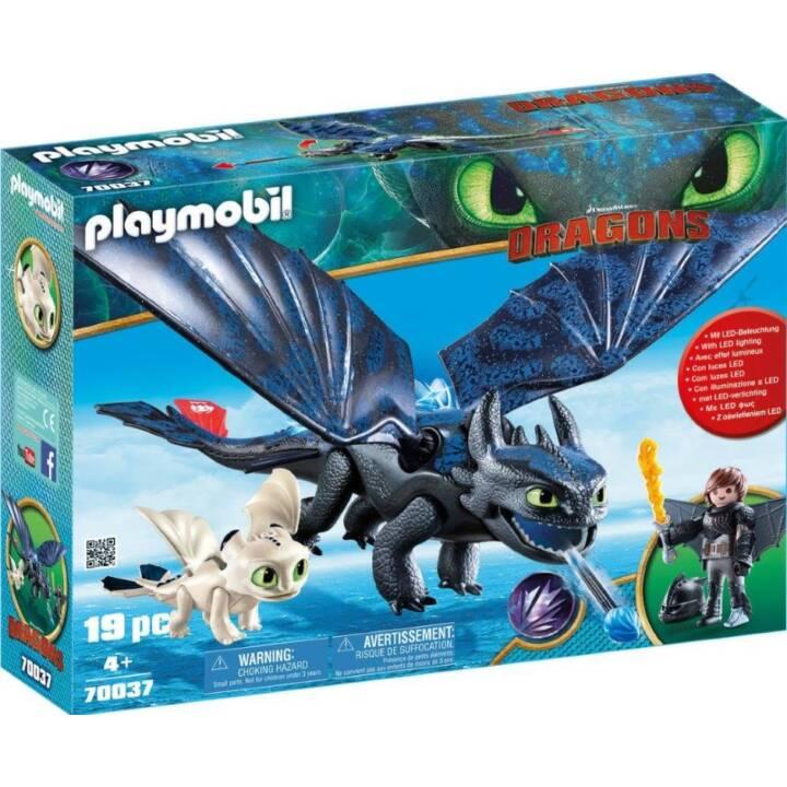 PLAYMOBIL Dragons Krokmou et Harold avec un bébé dragon(70037)