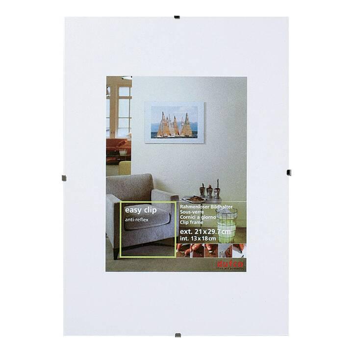 DUFCO EasyClip Cornici (21 cm x 29.7 cm, Transparente)