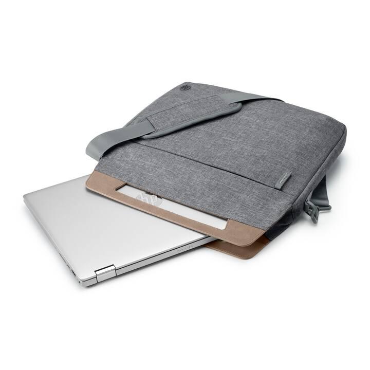 "HP Renew Slim Briefcase Messenger Bag (14"", Grigio)"