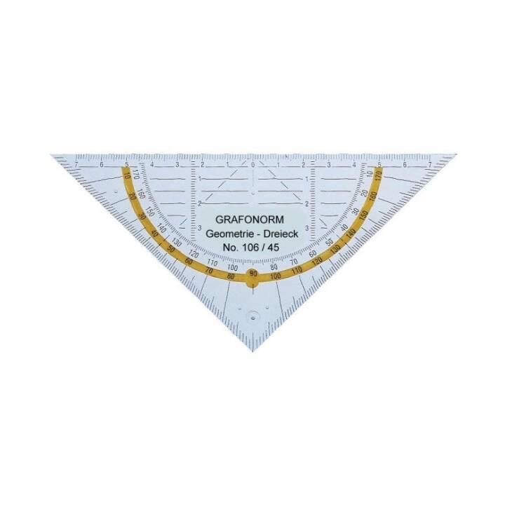 DUX Geodreieck 45/16 cm transparent