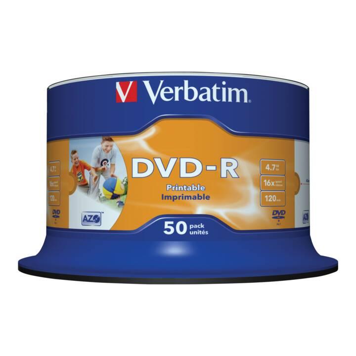 VERBATIM 50 x DVD-R 4,7 GB imprimable
