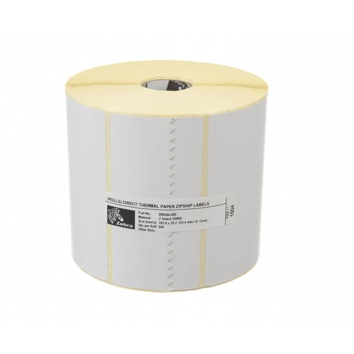 ZEBRA TECHNOLOGIES Z-Select 2000D Etikettenrolle (Weiss)