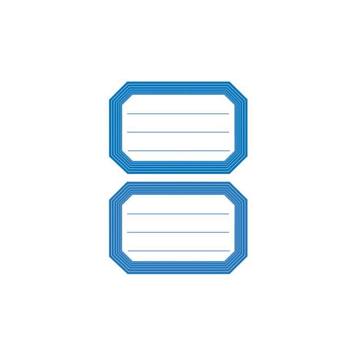 HERMA Étiquettes scolaires (Blanc, Bleu, 12 pièce)