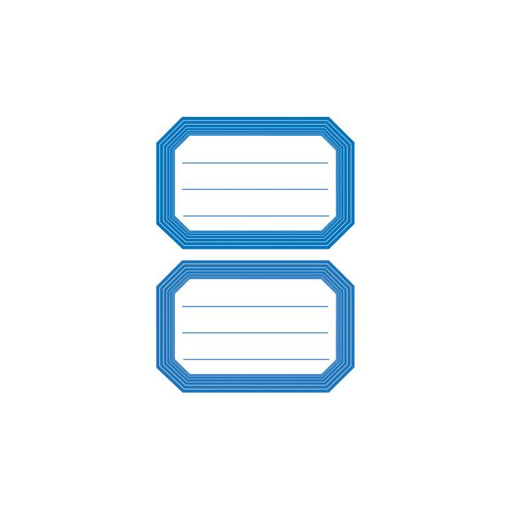 HERMA Etichette per la scuola (Blu, Bianco, 12 pezzo)