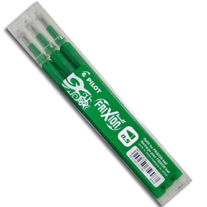 PILOT PEN Kugelschreibermine FriXion (Grün, 0.5 mm, 3 Stück)