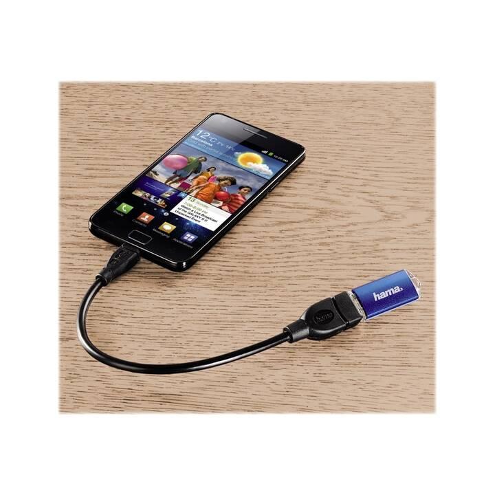 HAMA Câble USB (USB Type-B, USB 2.0 Type-A, 0.15 m)
