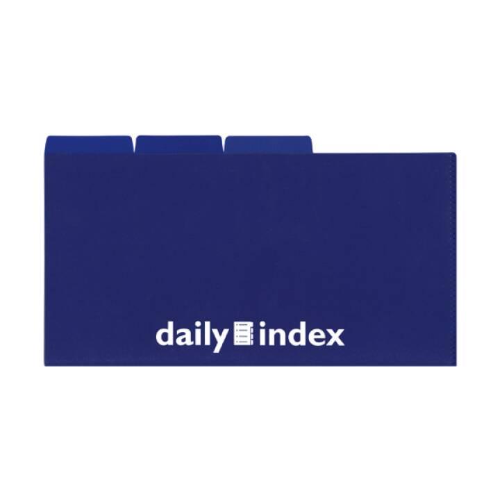 DAILY Organisationsmappen 21x13cm blau 3 Stück