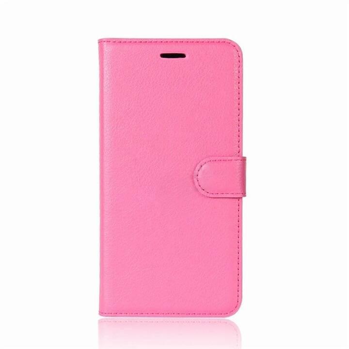 EG Mornrise Custodia a portafoglio per Samsung Galaxy A6 2018 - Rosa scuro