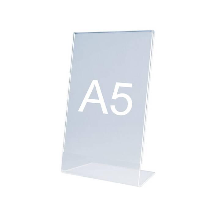 MAGNETOPLAN Porta depliant da tavola (A5, Transparente)