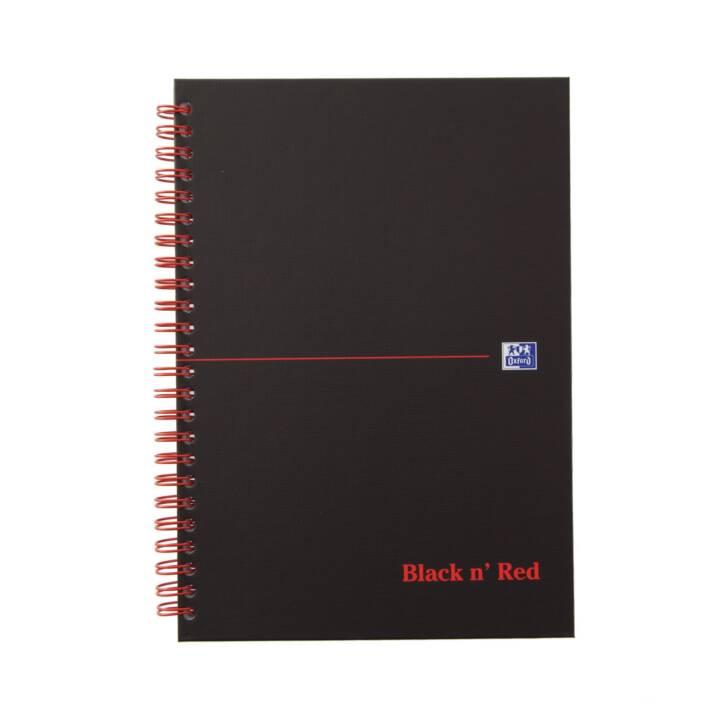 OXFORD Notizheft Collegeblock, A5, Kariert, Schwarz Rot