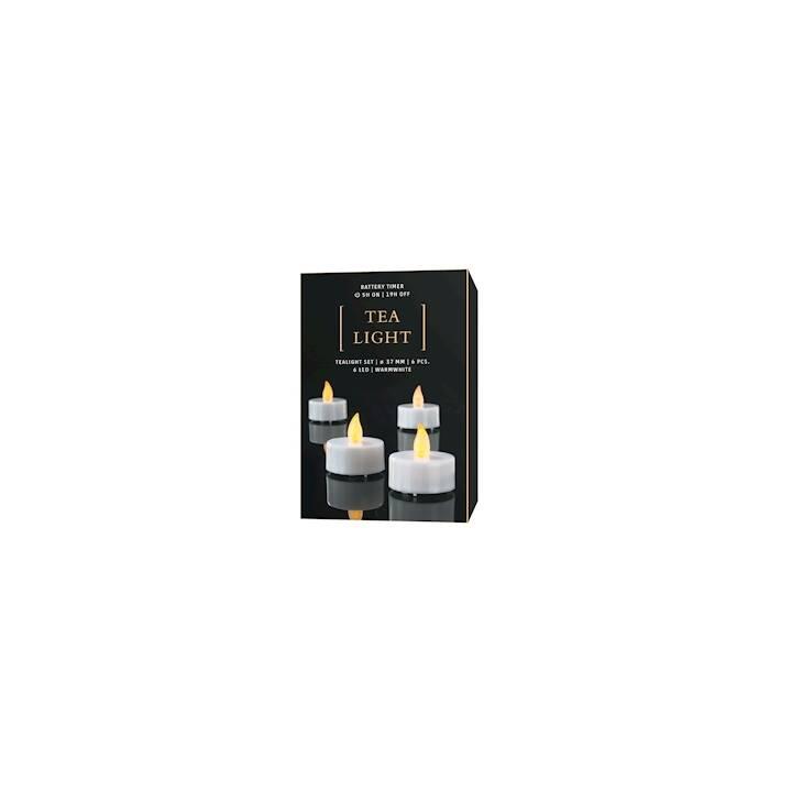 LIVIQUE LED-Teelicht (Weiss, 6 Stück)