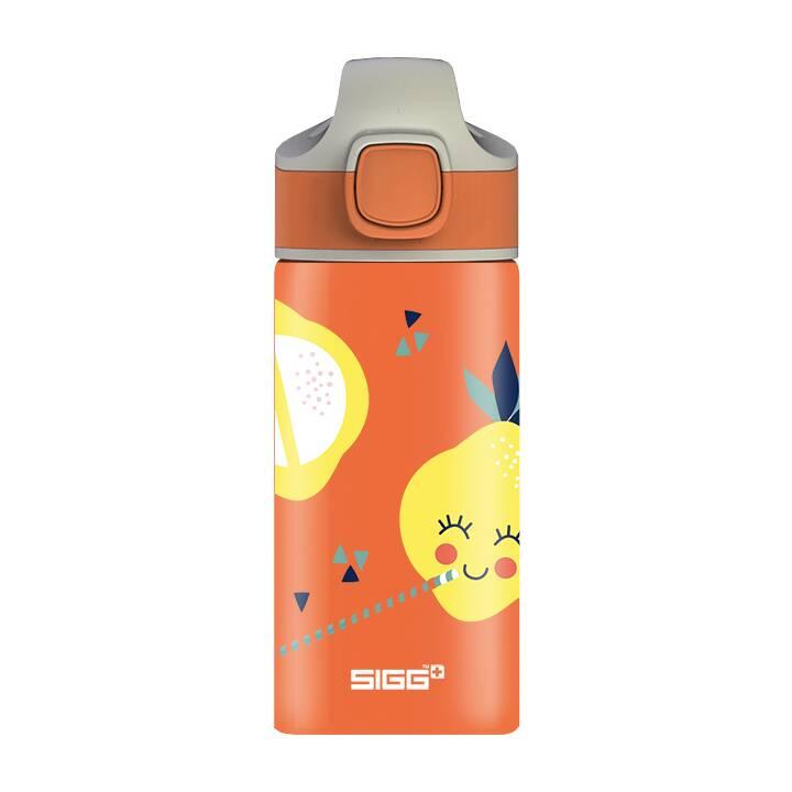 SIGG Bottiglia per bambini Miracle Lemon (0.4 l, Arancione, Giallo)