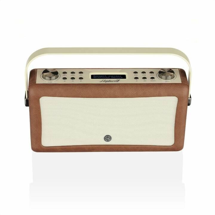 VIEW_QUEST Hepburn MkII Radio per cucina / -bagno (Marrone)